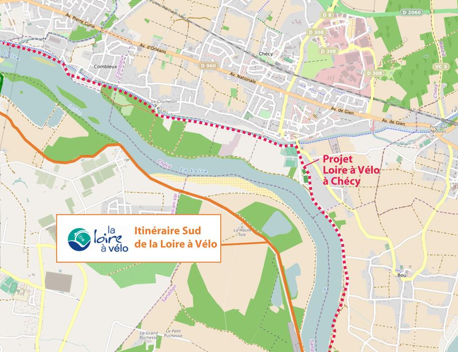 Loire à vélo : le projet de tracé