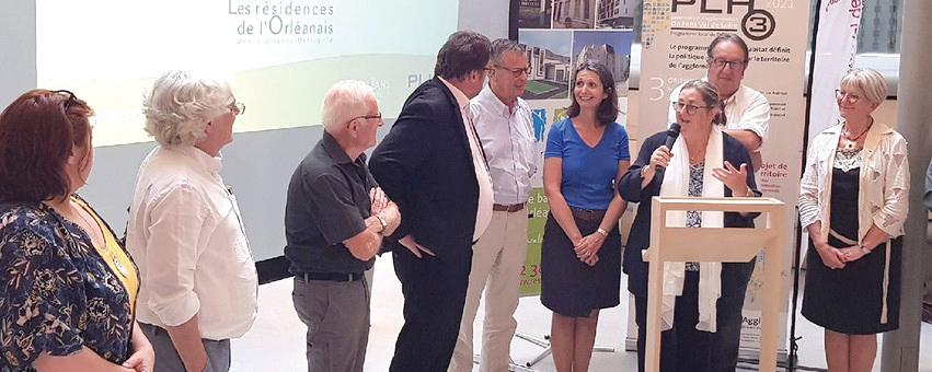Le 9 juillet 2019 , remise des prix de l'innovation du logement à 2 projets caciens par Madame Linguet, vice-présidente d'Orléans Métropole et les membres du jury © Orléans métropole