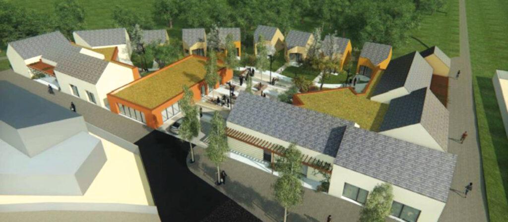 """Vue en 3D de la future résidence d'accueil """"Passerelle 45"""""""